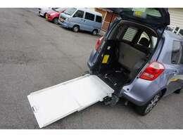 ◆スロープ画像です!車椅子一台がフィットする構造です!