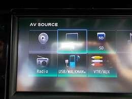 ナビ、CD,地デジテレビ、ラジオ、AUXが使用できます。♪