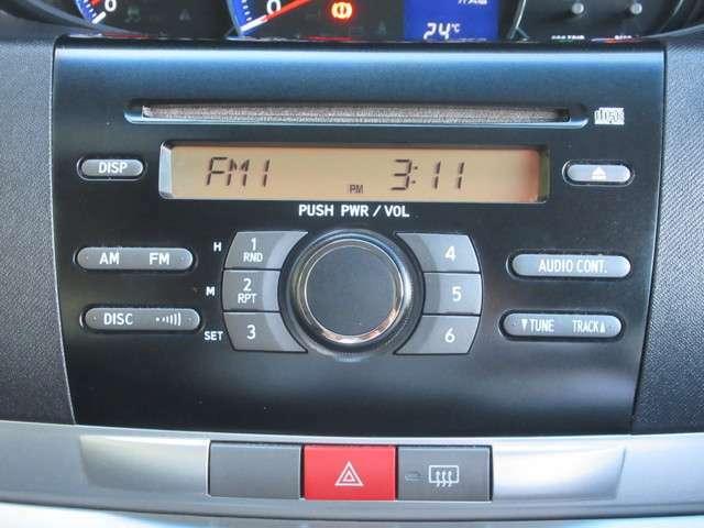■CD・FM・AM■難しい操作はいりません。FM・AMの切り替えもボタン一つで出来ます。お好みでカスタムして運転を楽しみましょう。