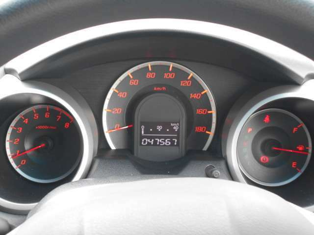 スピードメーターを中心に置いた常時点灯式3眼メーターで安心ドライブをサポートします♪