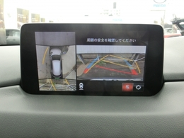 全方位360度モニター付き。上からの画像もありますので苦手な縦列駐車も確認しながら出来ますので助かりますね