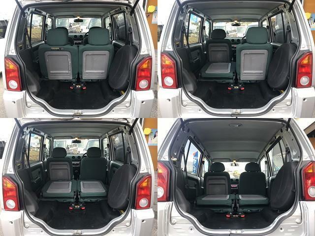 ルーフ高いお車なので、後部座席も倒すと収納スペースも広々♪お気軽にメール、または無料電話0078-6002-367149までお問い合わせください♪