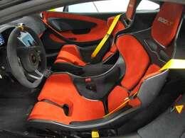 セナシート(LTスーパーライトウェイトレーシングシート)・シートフィットアジャスタブル・MSOシートヘッド刺繍(600LT)・MSOカラーシートベルト(イエロー)