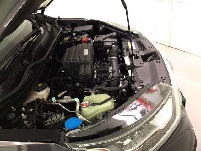 エンジンルームも洗浄済み、しっかり整備致します