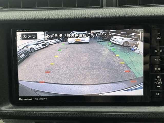 バックカメラ付!駐車する際に障害物や小さなお子様など死角を防ぐにも重要な装備です♪