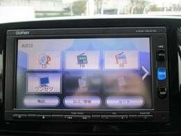 純正メモリーナビ(VXM-164CSi)です。CD再生のほかにもワンセグTV、Bluetooth連携機能も装備されとっても便利です!