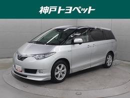 トヨタ エスティマハイブリッド 2.4 G 4WD HDDナビ 後席TV フロントカメラ ETC エアロ
