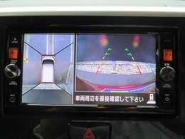 アラウンドビューモニター。全方位が確認でき安全に駐車できます。