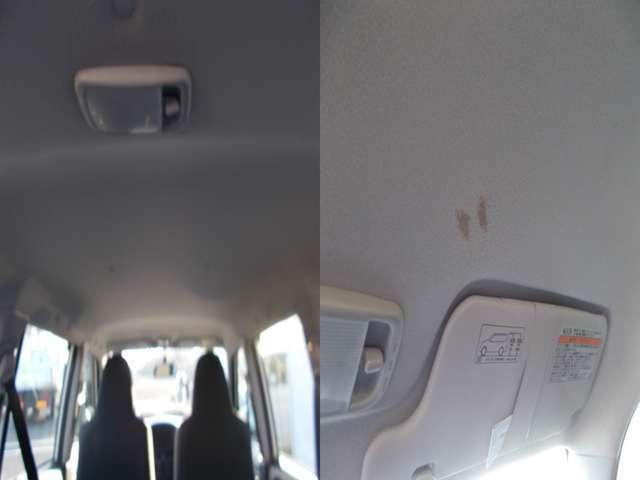 天井ヤニ汚れは見受けられませんが運転席上のみシミございます!