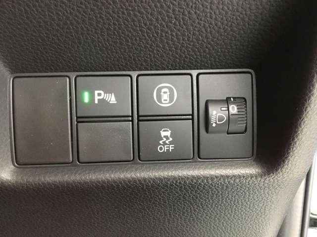 駐車時に便利なパーキングセンサー装備。