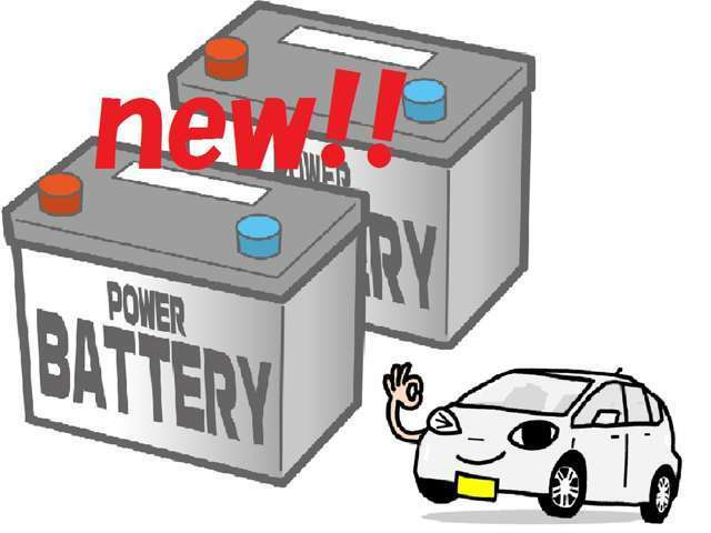Bプラン画像:☆新品バッテリーに交換するプランです☆詳細は下部の購入プランをご参照ください!(バッテリーは当社指定の物に限ります)