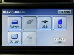 CD/DVDやワンセグTVなどオーディオ機能も充実!