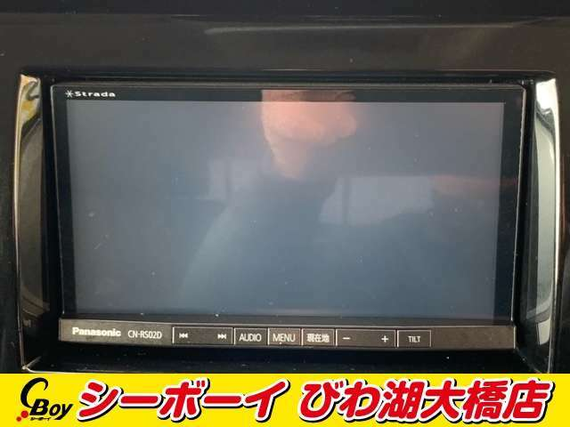 【社外SDナビ】この時代必需品のナビゲーションもちろん付いてます♪フルセグTV視聴にDVD再生・ブルートゥース接続での音楽再生も可能です。