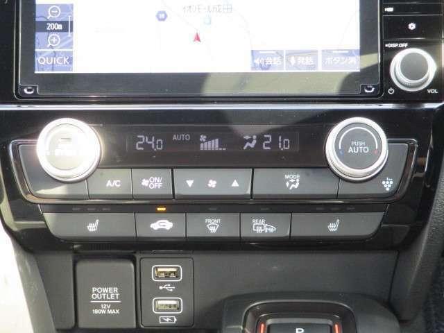ダブルエアコン!運転席と助手席で設定温度を各々変えられますので、暑がりな人・寒がりな人誰もが快適に過ごせます♪シートヒーター付!冷えた車内でも」スイッチを押せば数秒で座面と背もたれが暖かくなります。