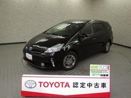 トヨタ プリウスα 1.8 G チューン ブラック メモリ-ナビ LED バックモニタ-