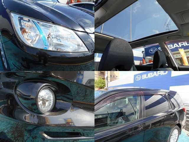 明るく快適な『HIDヘッドライト』&『フォグランプ』!!大解放でドライブが楽しくなる『大型ガラスルーフ』!!UVカット機能付き『プライバシーガラス』!!!