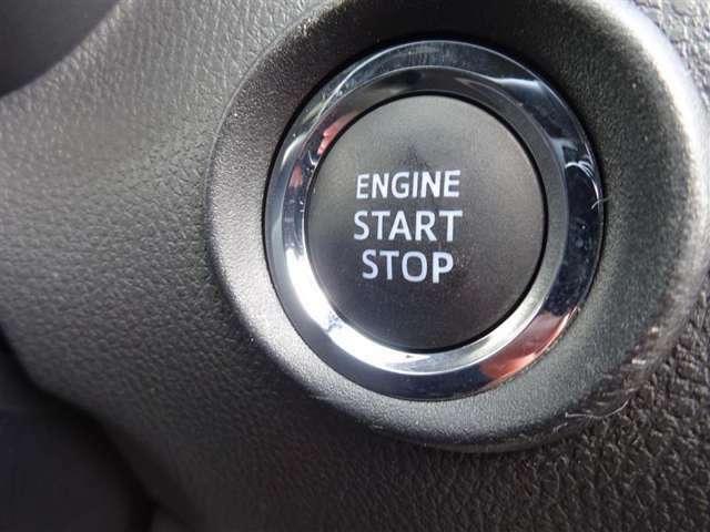 【プッシュボタンスタート】ブレーキを踏みながら、スイッチを押すだけ!キーの差込は不要で、押すとオレンジ色に点灯します♪