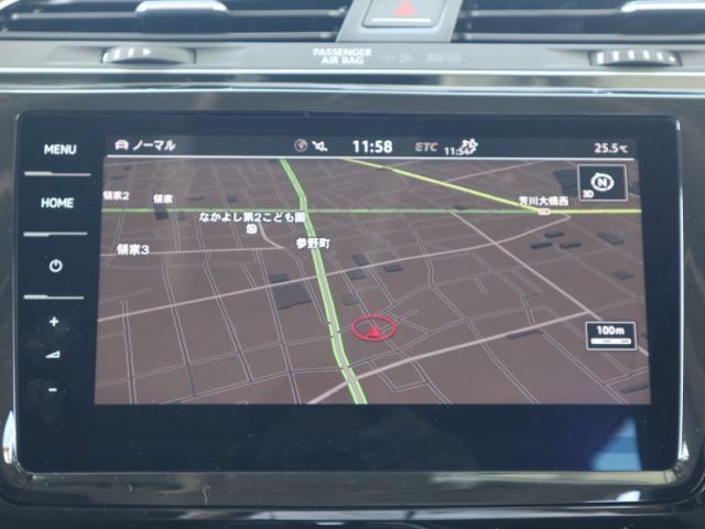 ディスカバーPRO大画面9.2インチタッチパネルの高性能ナビにはフルセグTV、CD、DVD、SDカード、Bluetooth、Volkswagen Car-Netの機能を搭載しています。