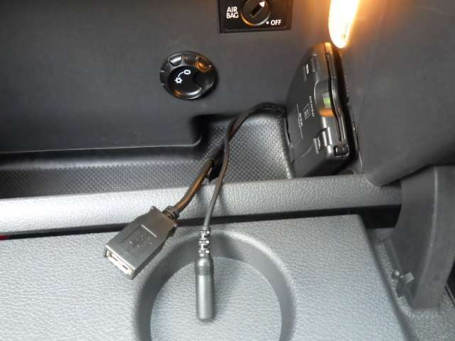 USB、3.5ピンジャック差し込み口