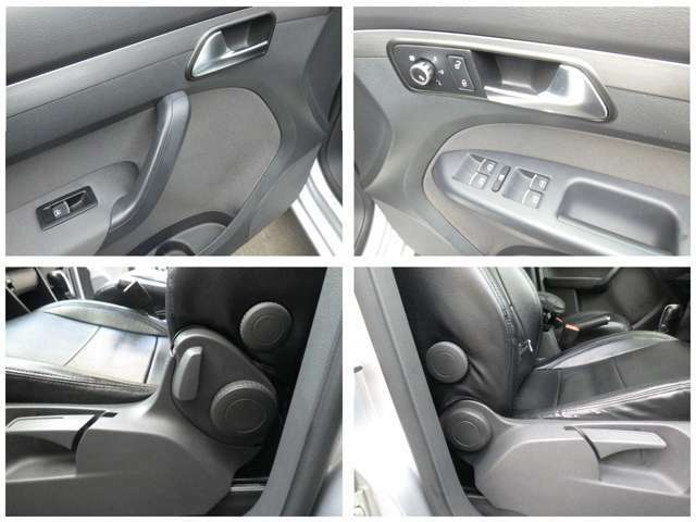 運転席、助手席共に高さ微調整もできます。