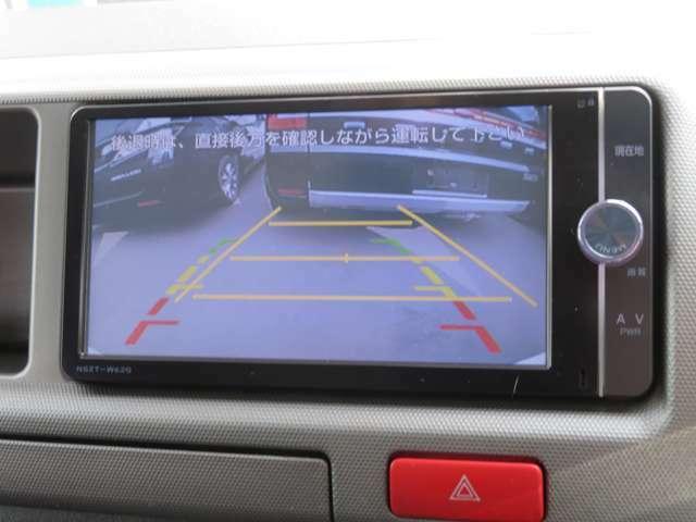 カラーバックモニターでバンク駐車も安心