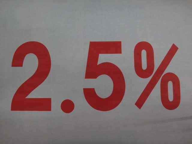 実質年率2.5%オートローンが御利用いただけます