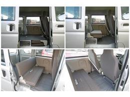 後部座席を畳むとフラットで広いスペースを確保できます!たくさんの荷物も載せられます!