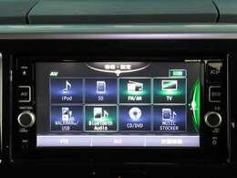 ナビゲーションのオーディオはさまざまなソースに対応、スマホでBluetoothオーディオや、CDを聞きながら内臓されるSDカードに録音できます