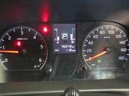 見やすいスピードメーター部分。