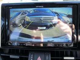 純正バックカメラに連動致します。駐車する際には、バックカメラとインテリジェントソナーで安心操作。