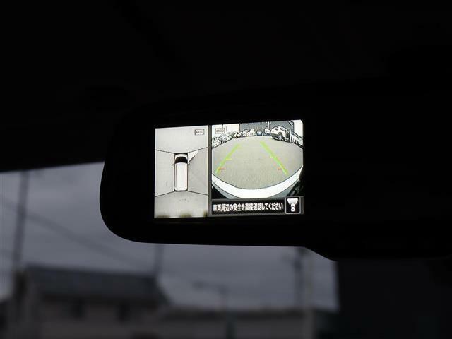 【 インテリジェントアラウンドビューモニター 】上空から見下ろしているような映像を映し出すので周囲の状況を確認しながらの駐車が可能です!