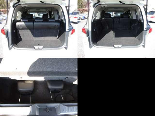 ラゲッジルーム サードシートを左右可倒すれば、フラットで大きなスペースを確保出来ます。