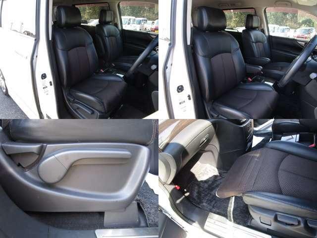 フロントシート センターアームレスト付で、運転席にはシートリフター(シート上下調整)機能が付いています。 助手席にはオットマンが付いています。 シート類も問題無し