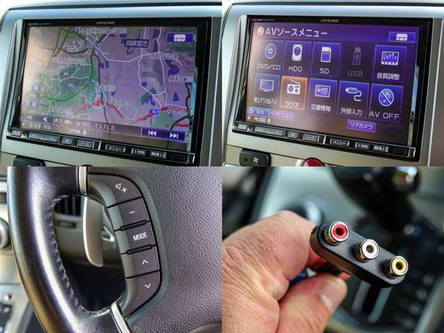 ALPINE製BIG-X8インチナビ「VIE-X88」HDDナビゲーション付きです。ステアリングリモコン、AUX外部入力付きです