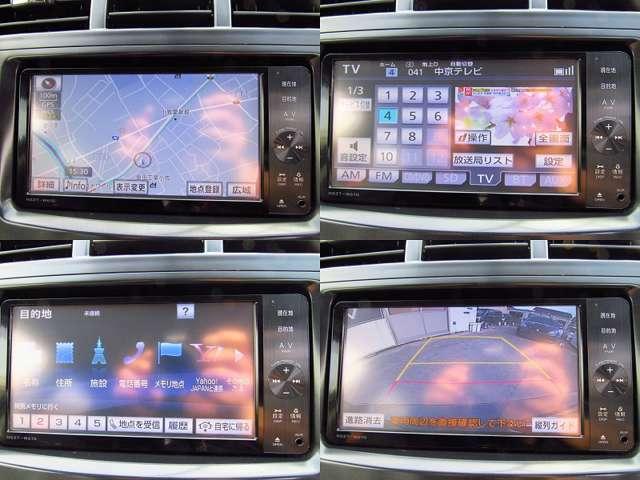 純正SDナビ。Bluetooth、バックカメラと装備は充実。