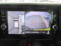 アラウンドビューモニター!全方位の死角もバッチリ確保で駐車も楽々♪あると安心ですよね
