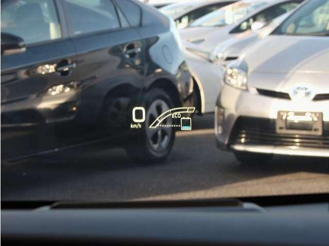 ☆カラーヘッドアップディスプレイ☆ 速度など必要な情報を表示するカラーヘッドアップディスプレイは、運転中の視野移動が少なくなります。