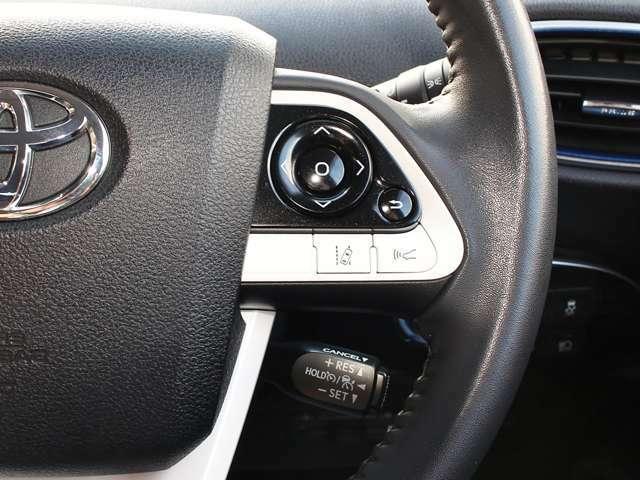 ☆ステアリングスイッチ☆ハンドルから手を放さずに、トリップメーターやオドメーターの切り替えができます!