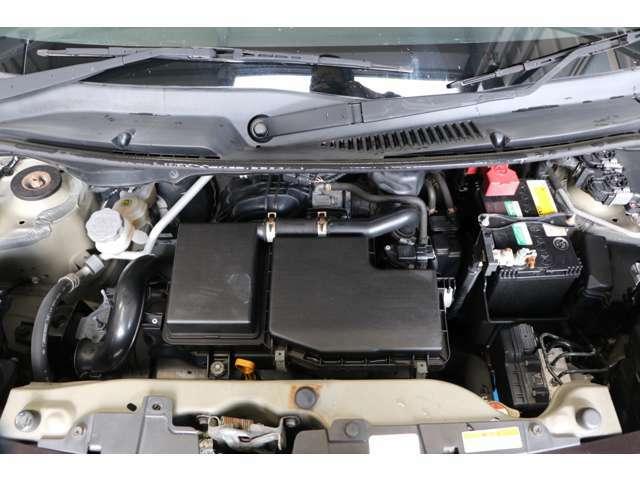 エンジンルームもきれいです♪バッテリー、オイル、オイルフィルターはご納車時に新品に交換致します!
