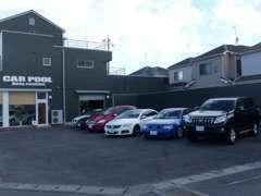 広い展示場にお車を並べてお待ちしております!!藤枝にも展示場がございます☆