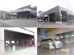 新設(リニューアル)した指定工場です。こちらで車検、点検をはじめ納車整備を行います!役所や企業向けリ-スも管理してます。