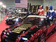 当社のデモカーです。写真は九州カスタムモーターショーのDAGブースです。