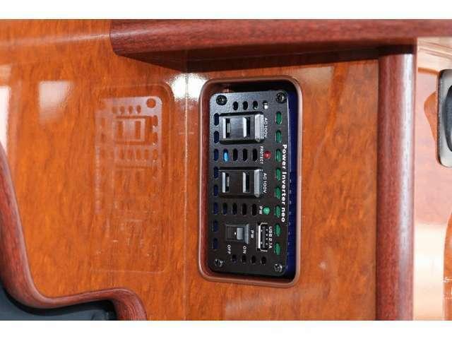 インバーター350Wを装備しています☆車内で家庭用電源100Vを使用可能です☆