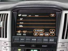 機能満載の純正HDDマルチは高精細に加え音楽の録音機能ミュージックサーバー機能は2000曲が収納可能。社外ナビに負けない機能性が御座います。