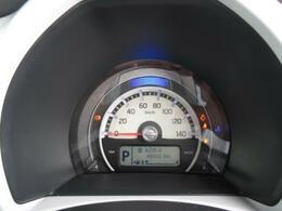 大きなスピードメーターで視認性良好!