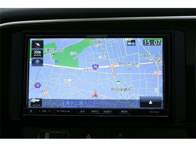 純正SDダイアトーンナビ搭載!フルセグTVにDVD、Bluetooth対応♪USB&SDオーディオ機能も利用可能です♪