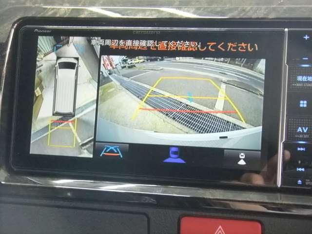 パノラミックビューモニター「メーカーオプション」360度 ナビゲーションに映し出します