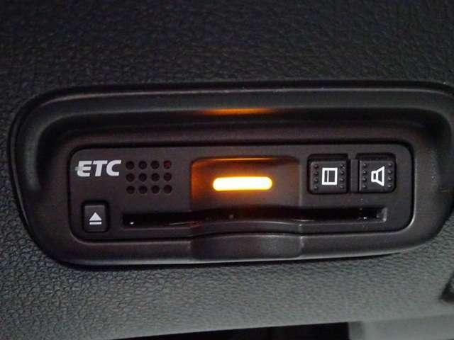 ETCも付いています。料金所をノンストップで通過できます。