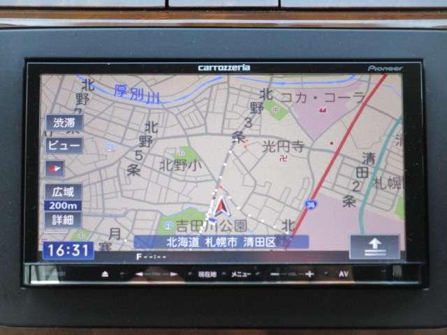 カロッツェリア製ナビ ワンセグTV Bluetoothオーディオ接続できます。