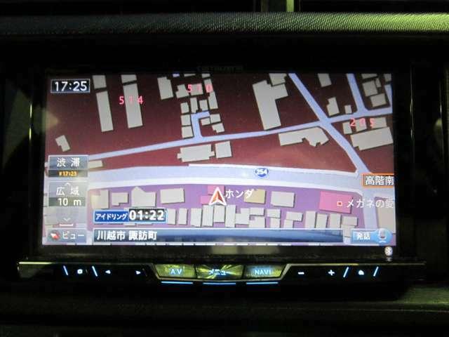 ★ナビ画面のアップ写真です。フルセグTV・Bluetooth・CD録音・CD・DVDビデオの再生が可能です。